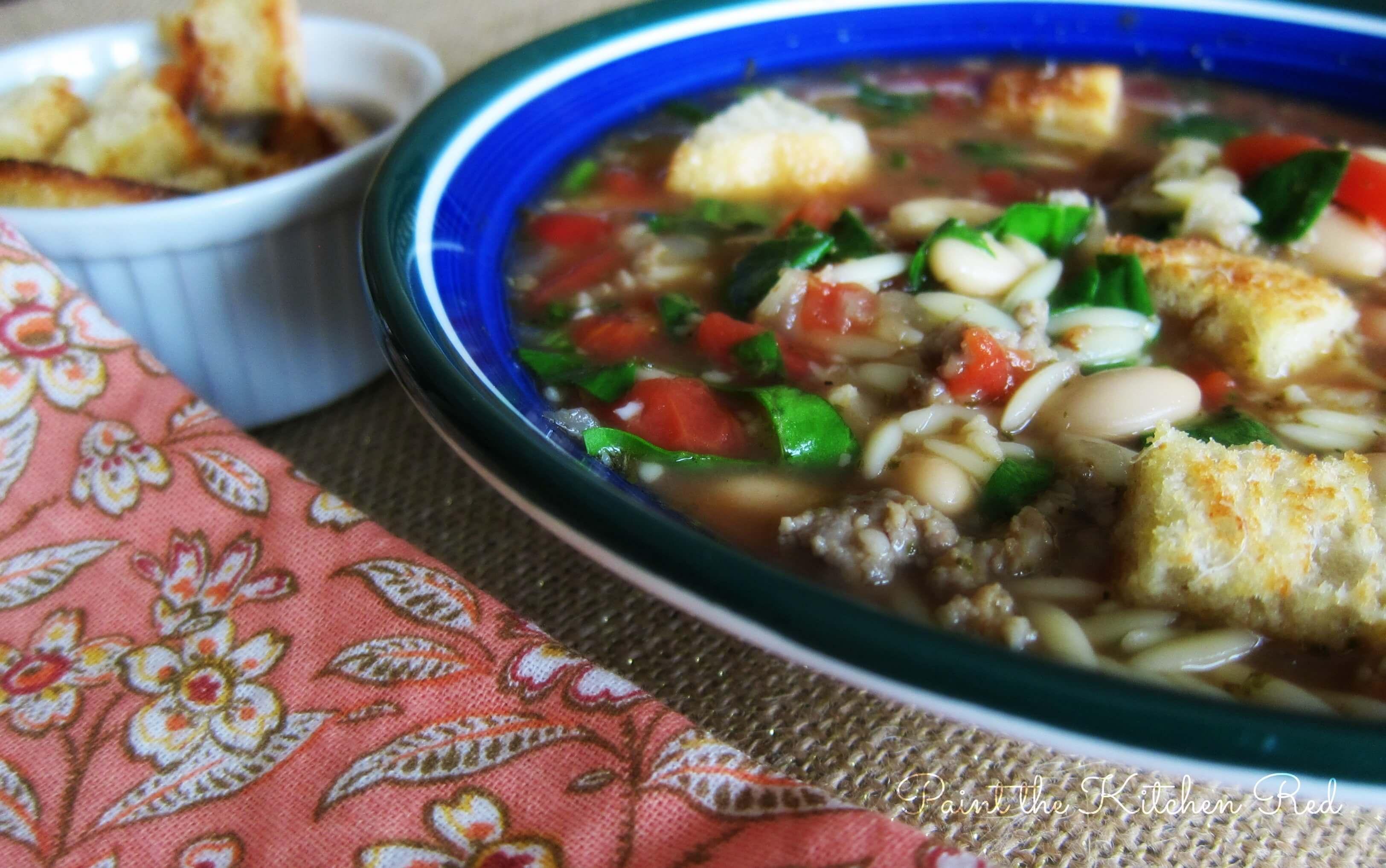 Sausage Orzo Soup