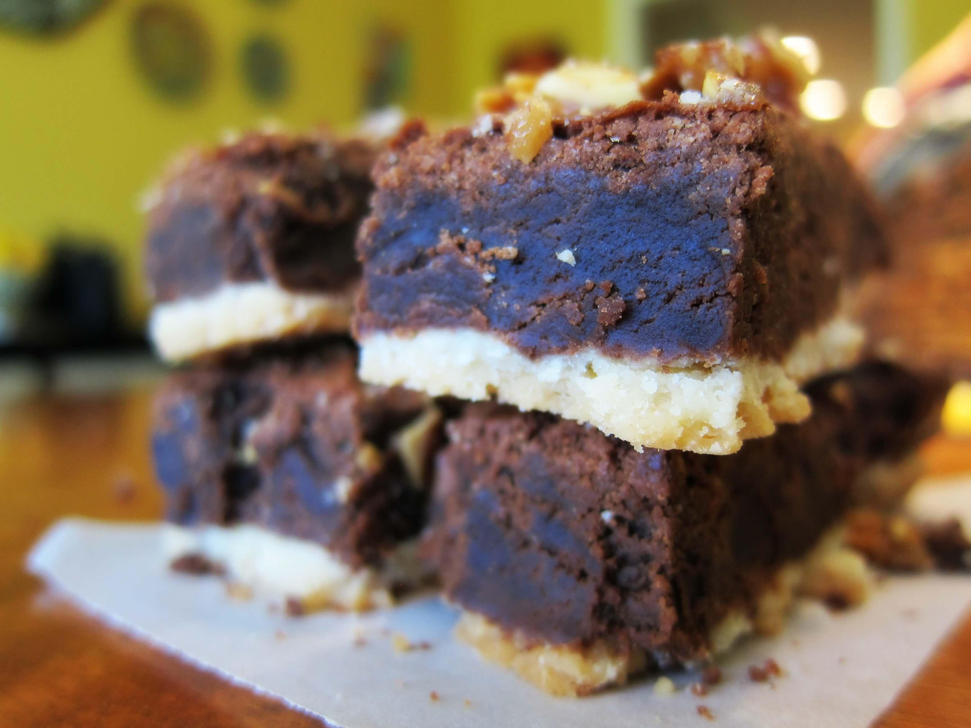 Almond Brittle Brownies