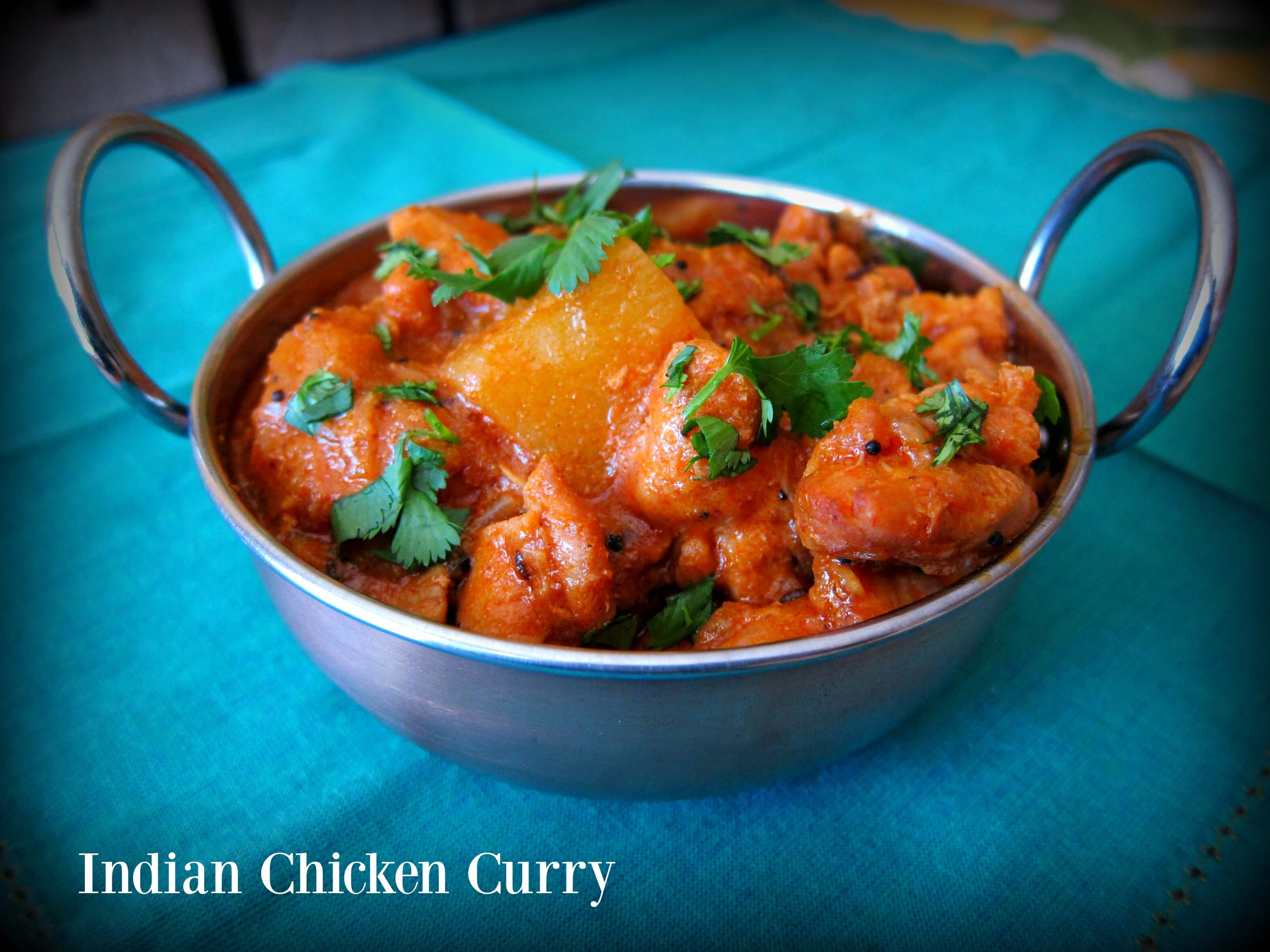 Indian Chicken Curry - Paint The Kitchen Red