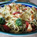 Garlic Shrimp Pasta front view