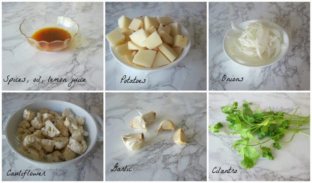 Indian Roasted Cauliflower Ingredients