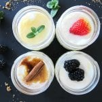 Instant Pot Yogurt in Mason Jars - mint and honey, strawberry, cinnamon stick, blackberry - Paint the Kitchen Red