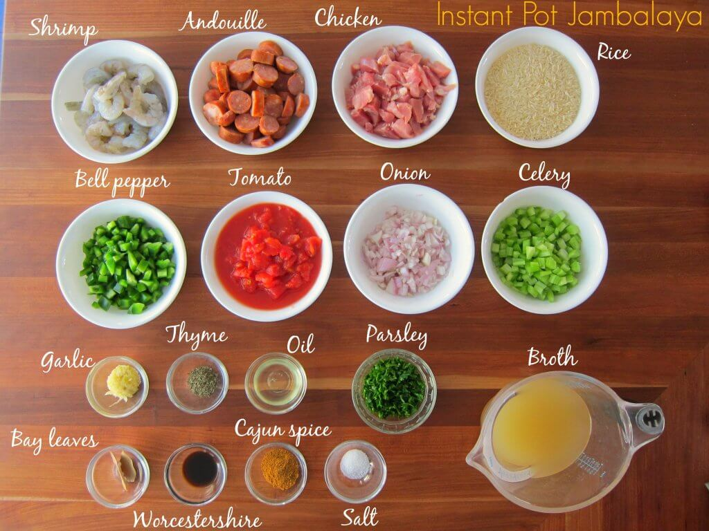 Instant Pot Jambalaya - Ingredients Paint the Kitchen Red