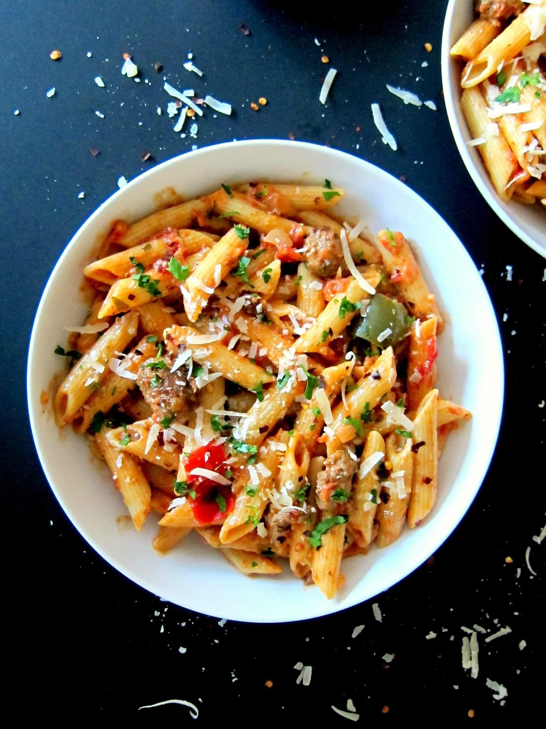 Instant Pot Pasta Penne With Sausage In Tomato Cream Sauce Paint The Kitchen Red
