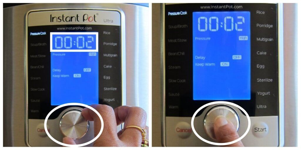 Instant Pot Ultra Change the Time