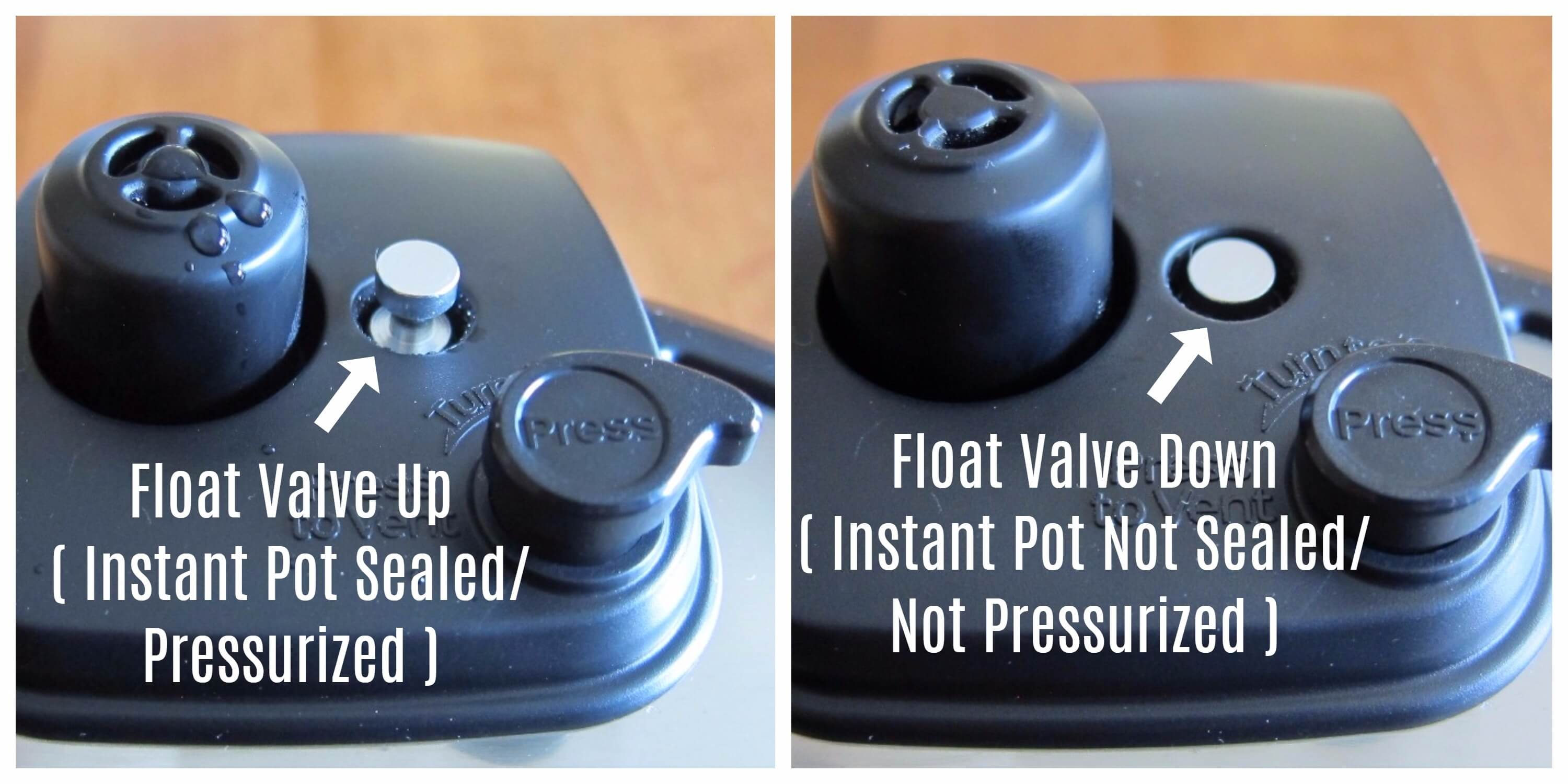 Instant Pot Gourmet Float Valve sealed to unsealed