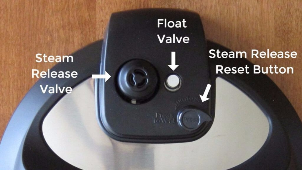 Instant Pot Ultra Outside lid parts steam release valve, float valve, steam release button