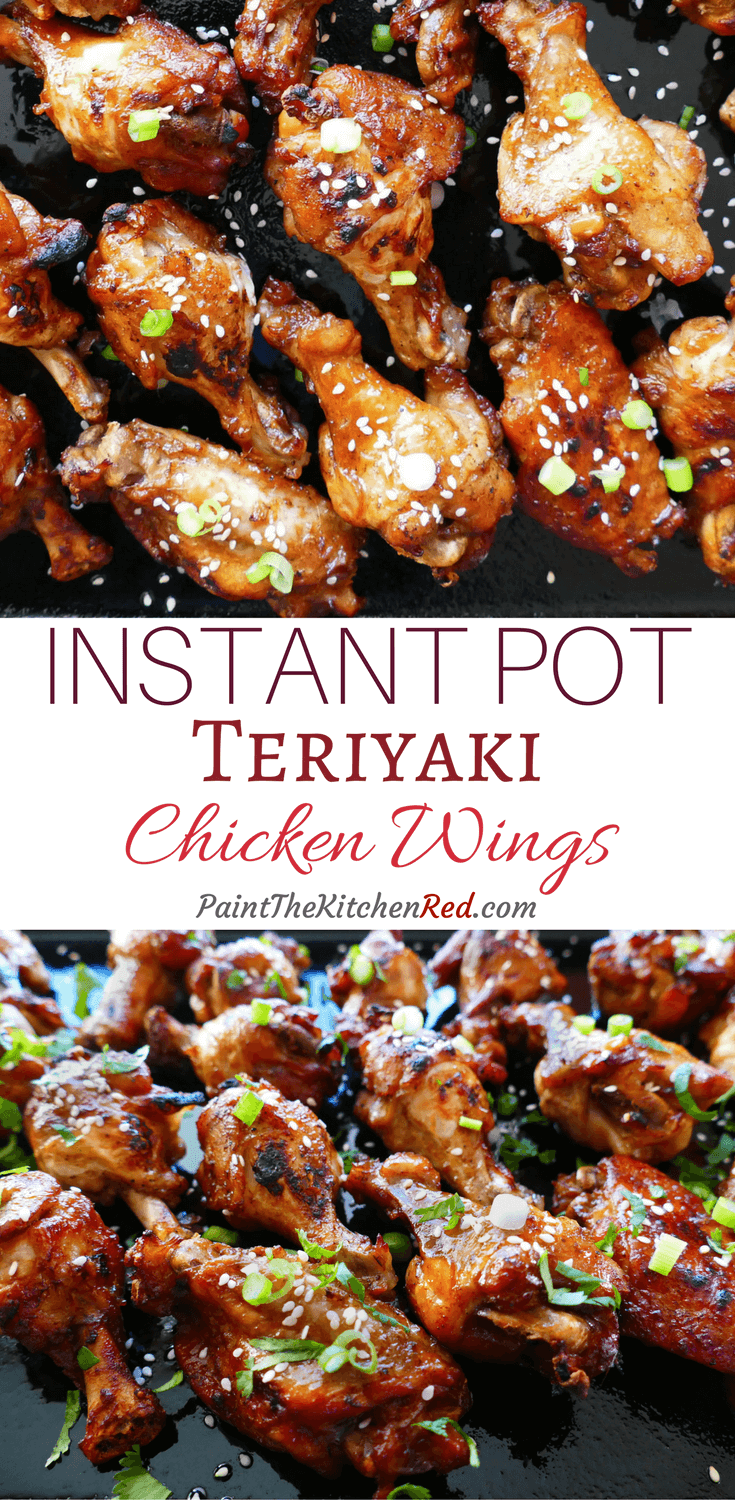 Instant Pot Teriyaki Wings make a finger-licking-good appetizer, and are perfect for a party. This easy Instant Pot chicken wing recipe has delicious Asian flavors that will delight your guests and become a favorite. #instantpot #teriyaki #chickenwings