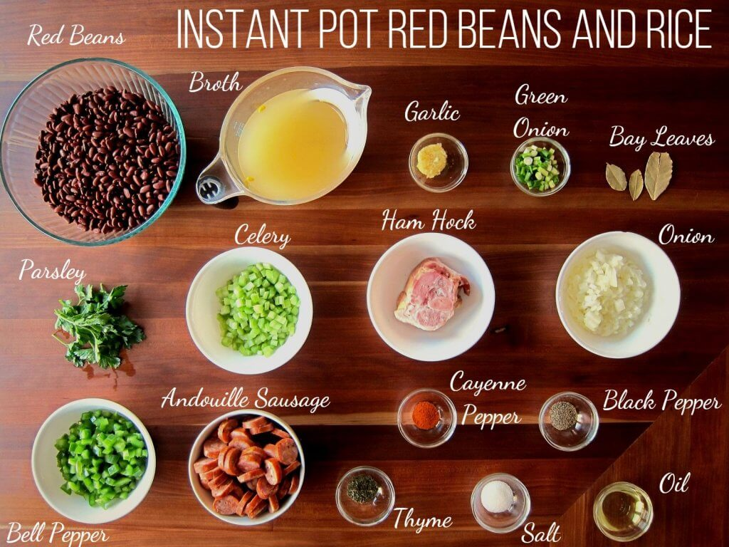 Authentic Instant Pot Red Beans And Rice Recipe Paint The Kitchen Red