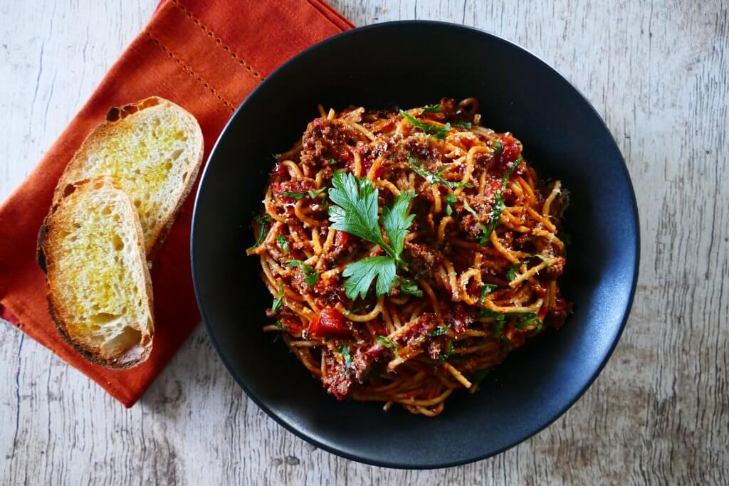 Easy Homemade Instant Pot Spaghetti with Meat Sauce