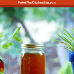 Instant Pot Seafood Shrimp Stock Pinterest - mason jar of seafood stock on window sill - Paint the Kitchen Red
