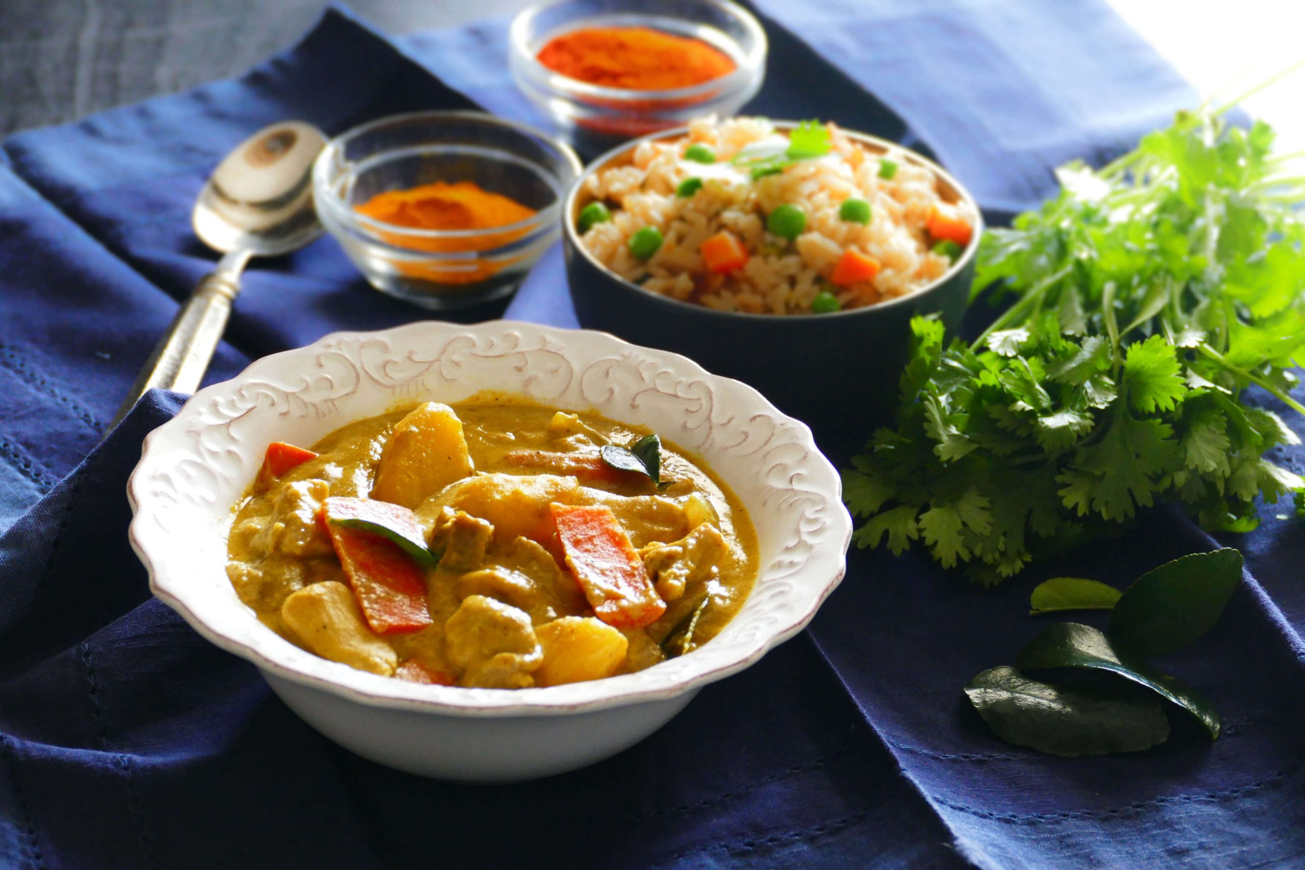 Thai Instant Pot Yellow Curry with Chicken - Paint The ...