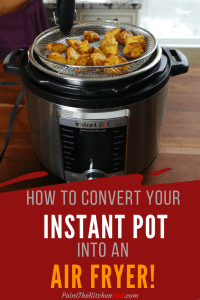 Mealthy CrispLid Pinterest Pin - mealthy basket with crisp potatoes on the Instant Pot Ultra - Paint the Kitchen Red