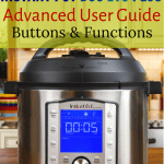 Instant Pot Duo Evo Plus on a countertop with title Advanced User Guide - Paint the Kitchen Red