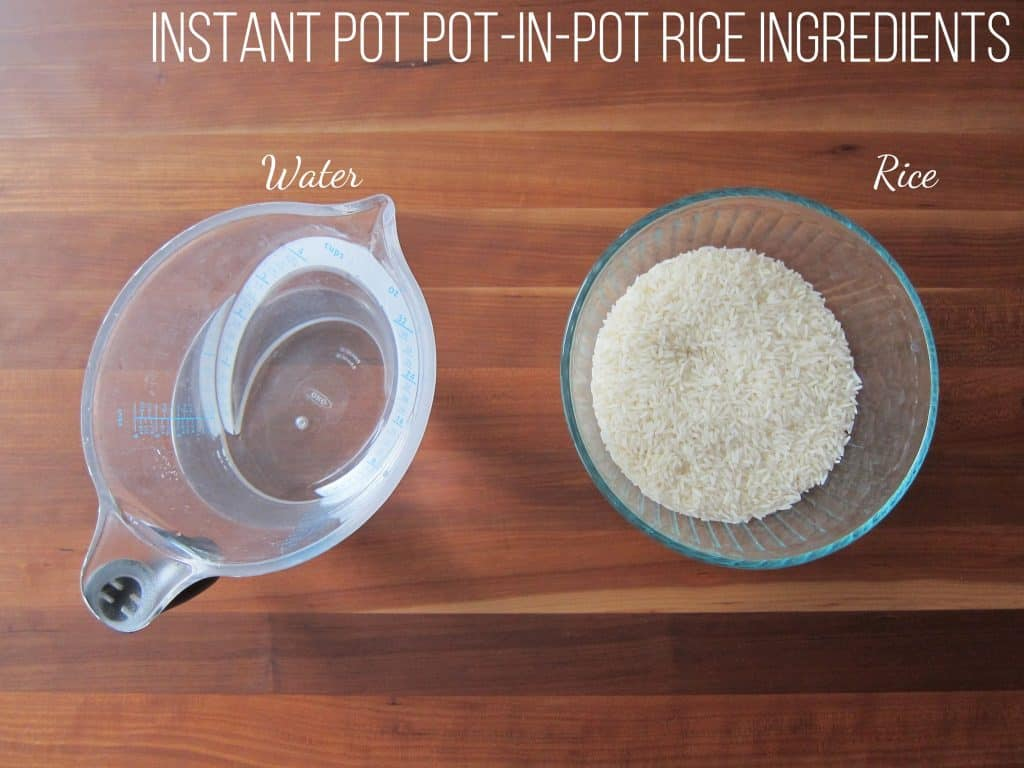 Instant Pot Pot in Pot Rice Ingredients - Paint the Kitchen Red