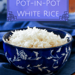 Instant Pot Pork and Hatch Chile Soup pinterest pin - bowl of white rice