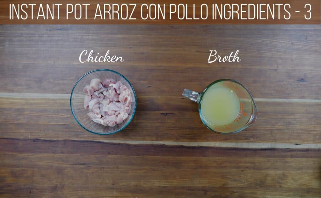 instant pot arroz con pollo ingredients - chicken, broth - Paint the Kitchen Red