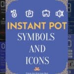 Instant pot symbols and icons Pinterest pin