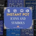 Instant pot symbols and icons