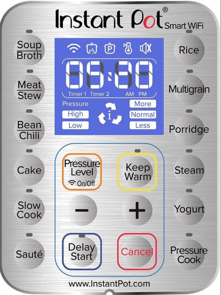 Instant Pot Smart Wifi display panel