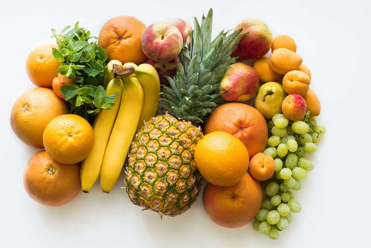 assorted fruits gathered together