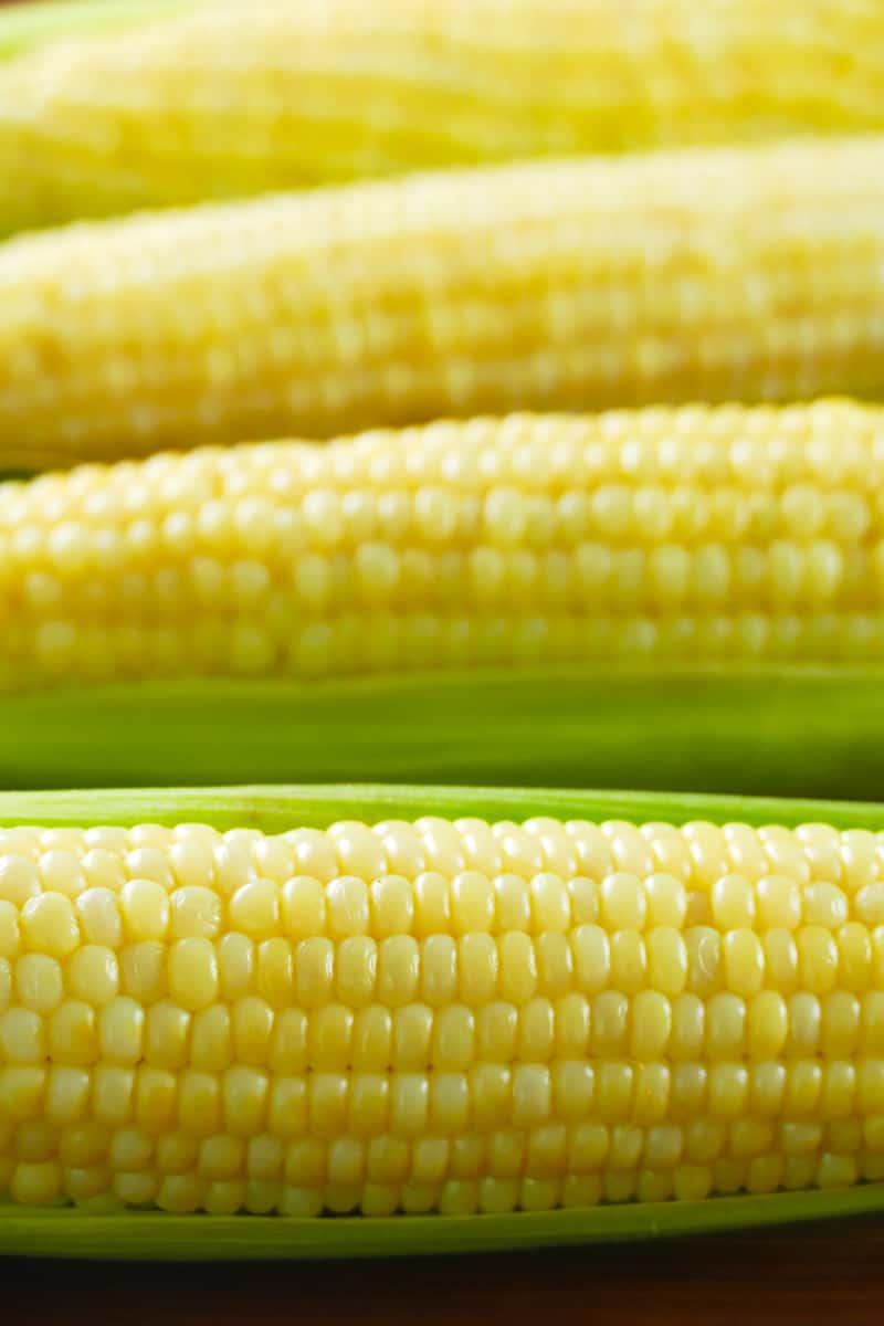 4 ears of corn in a row